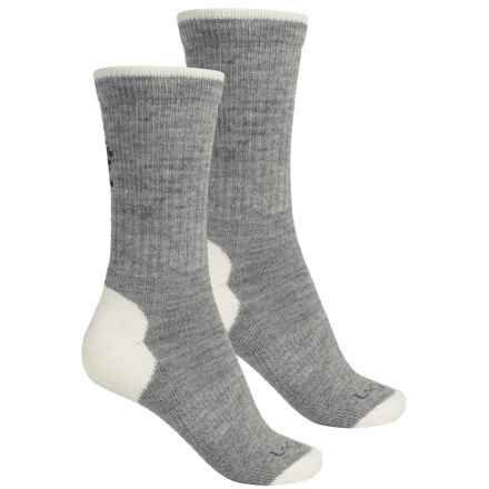 Lorpen Light Merino Wool Hiking Socks - 2-Pack, Crew (For Women) in Light Grey - Closeouts