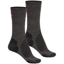 Lorpen Light-Midweight Hiking Socks - 2-Pack, Merino Wool, Crew  (For Men and Women) in Charcoal/Black - 2nds