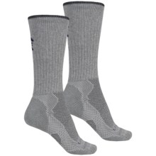 Lorpen Light-Midweight Hiking Socks - 2-Pack, Merino Wool, Crew  (For Men and Women) in Grey/Charcoal Heather - 2nds