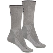 Lorpen Light-Midweight Hiking Socks - 2-Pack, Merino Wool, Crew  (For Men and Women) in Grey Heather/Charcoal - 2nds