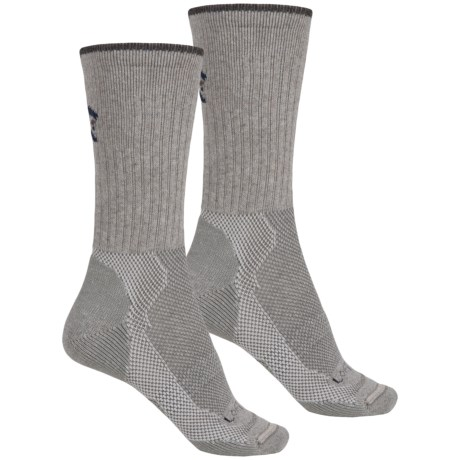 Lorpen Light-Midweight Hiking Socks - 2-Pack, Merino Wool, Crew  (For Men and Women) in Grey Heather/Charcoal