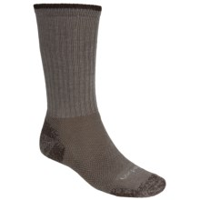 Lorpen Light-Midweight Hiking Socks - Italian Merino Wool, 2 Pack (For Men and Women) in Bark - 2nds