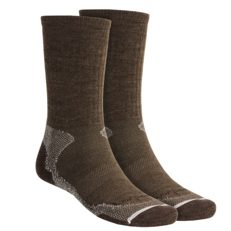 Lorpen Light-Midweight Hiking Socks - Italian Merino Wool, 2 Pack (For Men and Women) in Earth