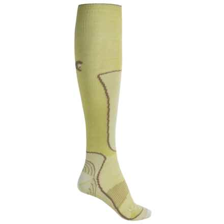 Lorpen Lightweight Wintersports Socks - Merino Wool-Silk, Over the Calf (For Women) in Pistachio - 2nds