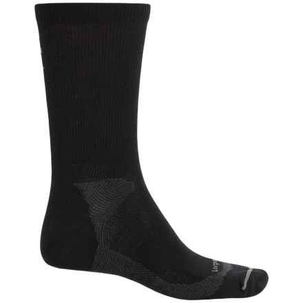 Lorpen Liner Socks - Merino Wool, Crew (For Men and Women) in Black - 2nds