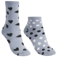 Lorpen Marianna Socks - 2-Pack, Modal, Crew (For Women) in Light Blue - Closeouts