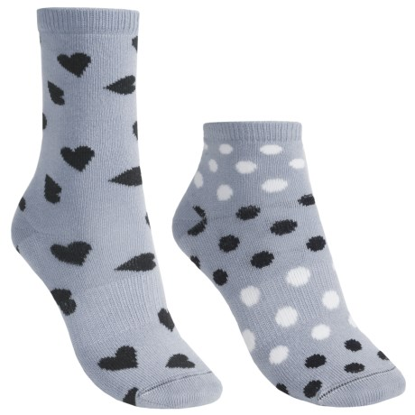 Lorpen Marianna Socks - 2-Pack, Modal, Crew (For Women) in Light Blue