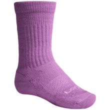 Lorpen Merino Kid's Light Hiker Socks - Merino Wool, Mid-Calf (For Little and BIg Kids) in Orchid - 2nds