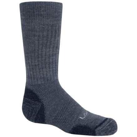 Lorpen Merino Kid's Light Hiker Socks - Merino Wool, Mid Calf (For Little and BIg Kids) in Navy Heather - 2nds