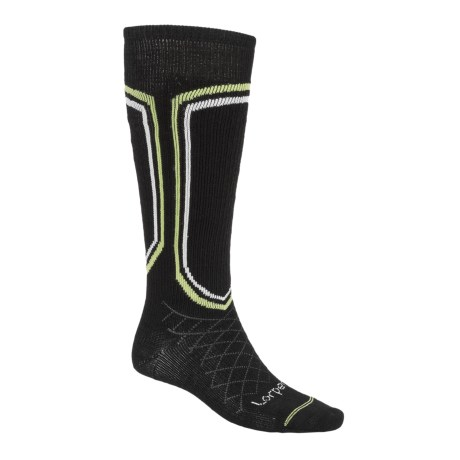 Lorpen Merino Light Classic Ski Socks (For Men) in Black