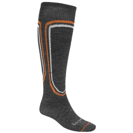 Lorpen Merino Light Classic Ski Socks (For Men) in Charcoal