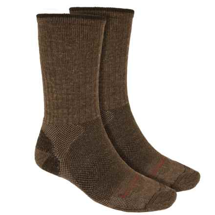 Lorpen Merino Wool Hiker Socks - 2-Pack, Crew (For Men and Women) in Earth - 2nds
