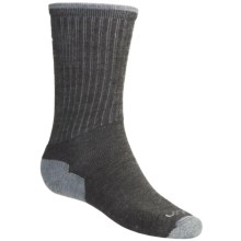 Lorpen Merino Wool Hiking Socks - 2-Pack, Lightweight, Crew (For Men and Women) in Dark Taupe/Grey - 2nds