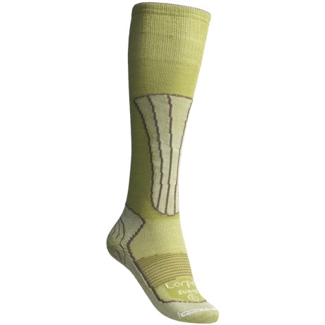 Lorpen Merino Wool-Silk Ski Socks - Lightweight (For Women) in Celadon
