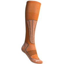 Lorpen Merino Wool-Silk Ski Socks - Lightweight (For Women) in Tangerine - 2nds