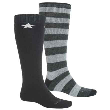Lorpen Merino Wool Ski Socks - 2-Pack, Over the Calf (For Men and Women) in Galaxy - 2nds