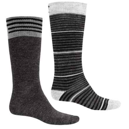 Lorpen Merino Wool Ski Socks - 2-Pack, Over the Calf (For Men and Women) in Gunmetal - 2nds