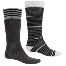 Lorpen Merino Wool Ski Socks - Over the Calf, 2-Pack (For Men and Women) in Gunmetal - 2nds