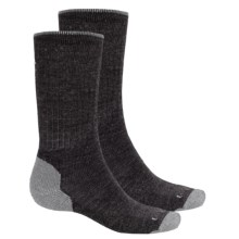 Lorpen Merino Wool Work Socks - 2-Pack, Crew  (For Men and Women) in Dark Grey Heather - 2nds