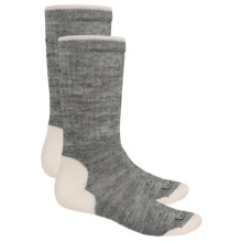 Lorpen Merino Wool Work Socks - 2-Pack, Crew  (For Men and Women) in Light Grey Heather - 2nds