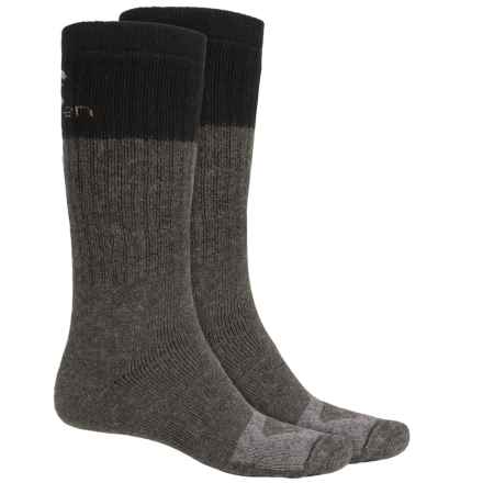 Lorpen Merino Wool Work Socks - 2-Pack, Over the Calf (For Men) in Anthracite - 2nds