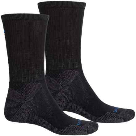 Lorpen Mid Hiker Micromodal® Socks - 2-Pack, Crew (For Men and Women) in Black - Closeouts