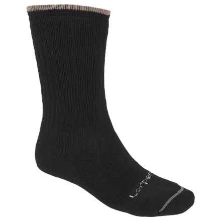 Lorpen Midweight Hiker Socks - Merino Wool, Crew (For Men and Women) in Black - Closeouts