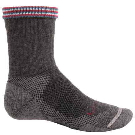 Lorpen Midweight Hiking Socks - Merino Wool Blend, Crew (For Little and Big Kids) in Charcoal - Closeouts