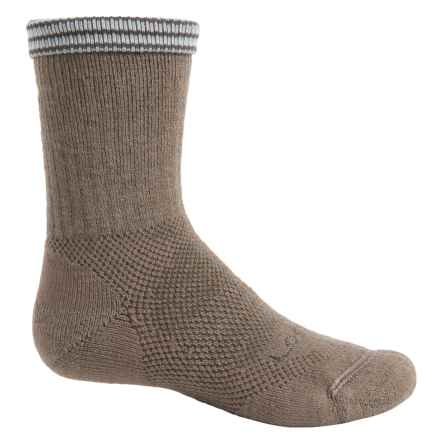 Lorpen Midweight Hiking Socks - Merino Wool Blend, Crew (For Little and Big Kids) in Taupe - Closeouts