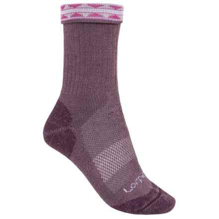 Lorpen Midweight Hiking Socks - Merino Wool, Crew (For Women) in Eggplant - Closeouts