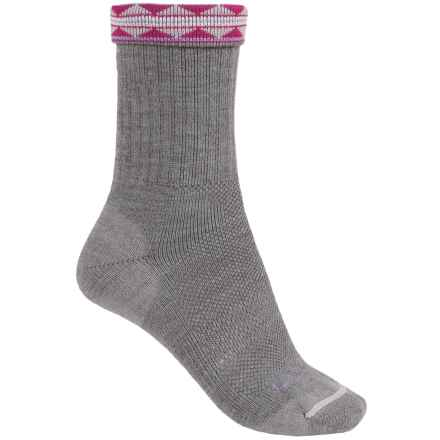Lorpen Midweight Hiking Socks - Merino Wool, Crew (For Women) in Grey - Closeouts