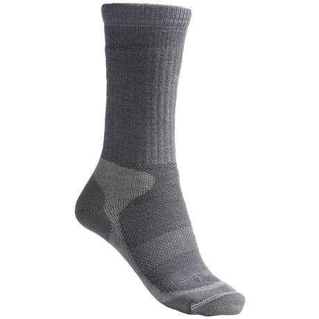 Lorpen Midweight Hiking Socks - Merino Wool, Crew (For Women) in Light Grey