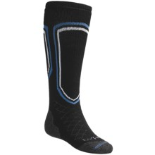 Lorpen Midweight Ski Socks - Merino Wool Blend, Over-the-Calf (For Men and Women) in Black - 2nds