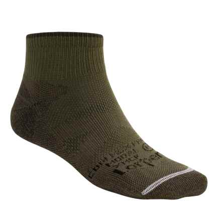 Lorpen Multi-Sport CoolMax® Socks - Modal Lining, Quarter Crew (For Men and Women) in Conifer - Closeouts