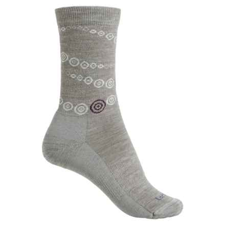 Lorpen Outdoor Lifestyle Circles Socks - Merino Wool Blend, Crew (For Women) in Grey - Closeouts