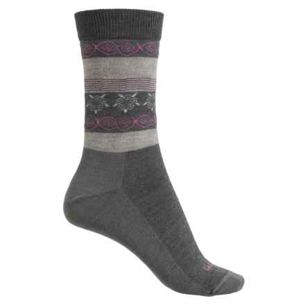 Lorpen Outdoor Lifestyle Fair Isle Socks - Merino Wool Blend, Crew (For Women) in Charcoal - Closeouts