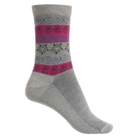 Lorpen Outdoor Lifestyle Fair Isle Socks - Merino Wool Blend, Crew (For Women) in Grey - Closeouts
