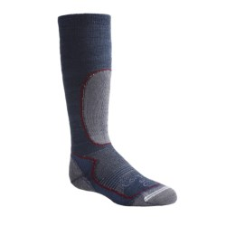 Lorpen Over-the-Calf Ski Socks - Merino Wool, Midweight (For Kids and Youth) in Black/Green