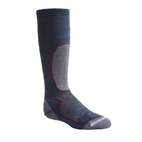 Lorpen Over-the-Calf Ski Socks - Merino Wool, Midweight (For Kids and Youth) in Denim Heather