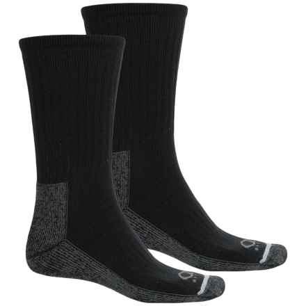 Lorpen Quad Comfort® Denver Hayes Socks - 2-Pack, Crew (For Men and Women) in Black/Charcoal - Closeouts