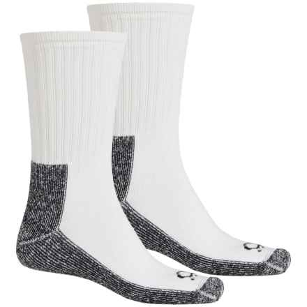Lorpen Quad Comfort® Denver Hayes Socks - 2-Pack, Crew (For Men and Women) in White/Black - Closeouts