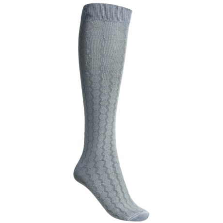 Lorpen Sabrina Socks - Modal-Cotton, Mid-Calf (For Women) in Aqua