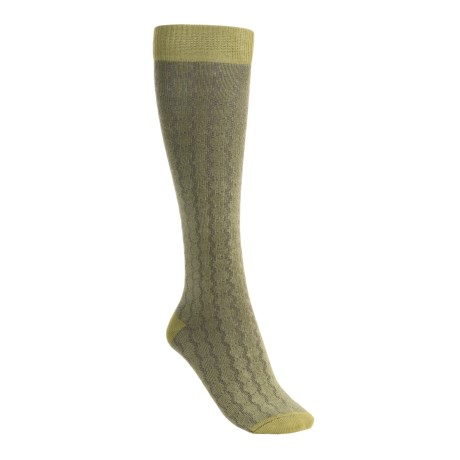 Lorpen Sabrina Socks - Modal-Cotton, Mid-Calf (For Women) in Green Tea