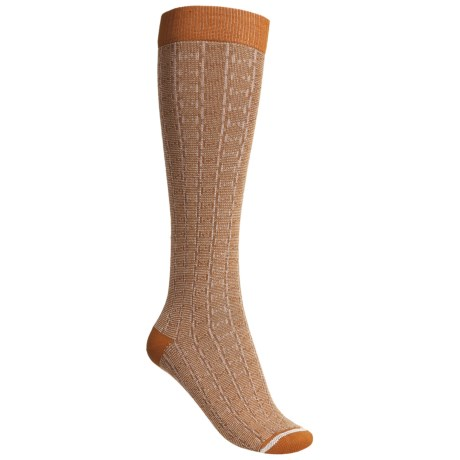 Lorpen Sabrina Socks - Modal-Cotton, Mid-Calf (For Women) in Light Ginger