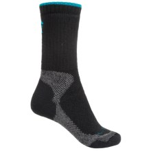 Lorpen Sail Light Hiking Socks - Merino Wool Blend, Crew (For Women) in Black/Aqua - Closeouts