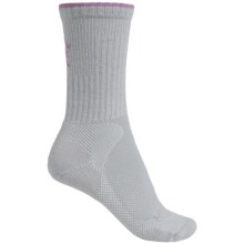 Lorpen Sail Light Hiking Socks - Merino Wool Blend, Crew (For Women) in Light Grey/Light Purple - Closeouts
