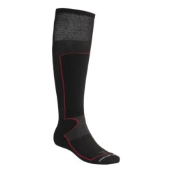 Lorpen Schoeller® Polycolon Ski Socks - 2-Pack, Antibacterial (For Men and Women) in Black/Charcoal/Red
