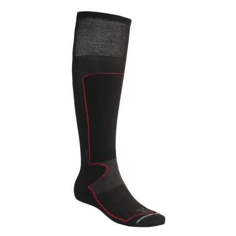 Lorpen Schoeller® Polycolon Ski Socks - 2-Pack, Antibacterial (For Men and Women) in Black/Red