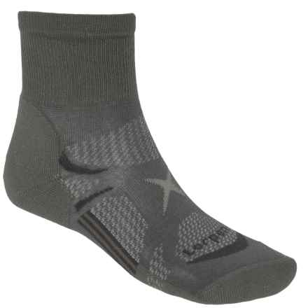 Lorpen Shorty Light Hiking Socks - Quarter Crew (For Men and Women) in Charcoal - Closeouts