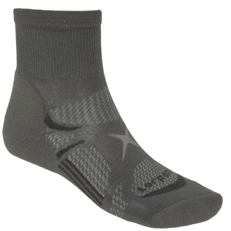 Lorpen Shorty Light Hiking Socks - Quarter Crew (For Men and Women) in Charcoal